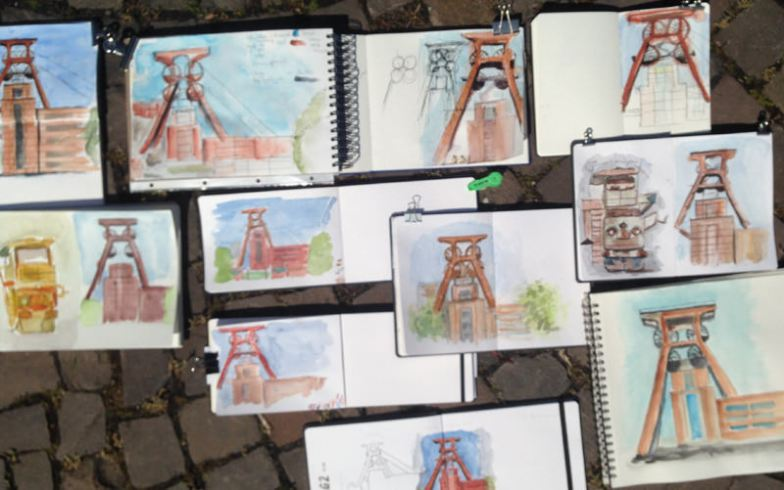zeche-zollverein-urban-sketching-aquarell