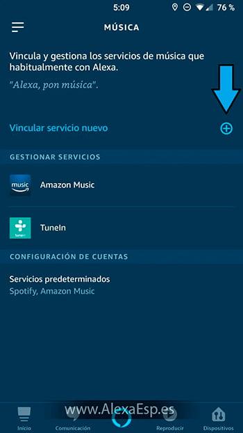 Cómo configurar y utilizar Spotify, Deezer o Apple Music en Alexa (Amazon Echo) paso 4