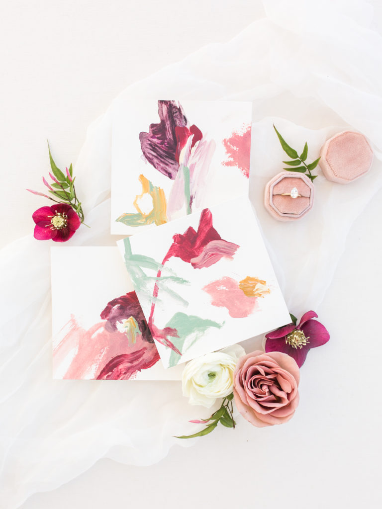 Blush floral stationary by Lane Love Paper Co. – Dallas Wedding Planner | Alexa Kay Events