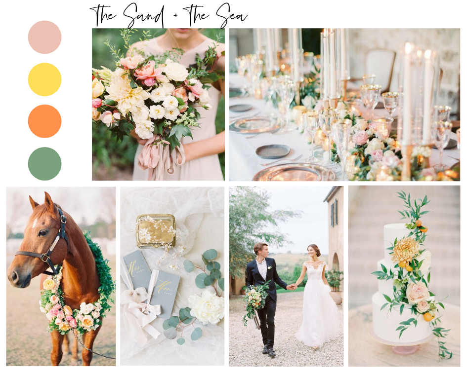Sand and the sea, summer wedding color inspiration by Alexa Kay Events. See more wedding color palette ideas at alexakayevents.com!