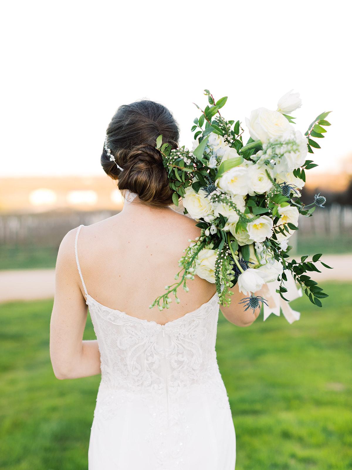 Wedding hair: Elopement vineyard wedding at Umbra Winery by Alexa Kay Events. See more wedding ideas at alexakayevents.com!