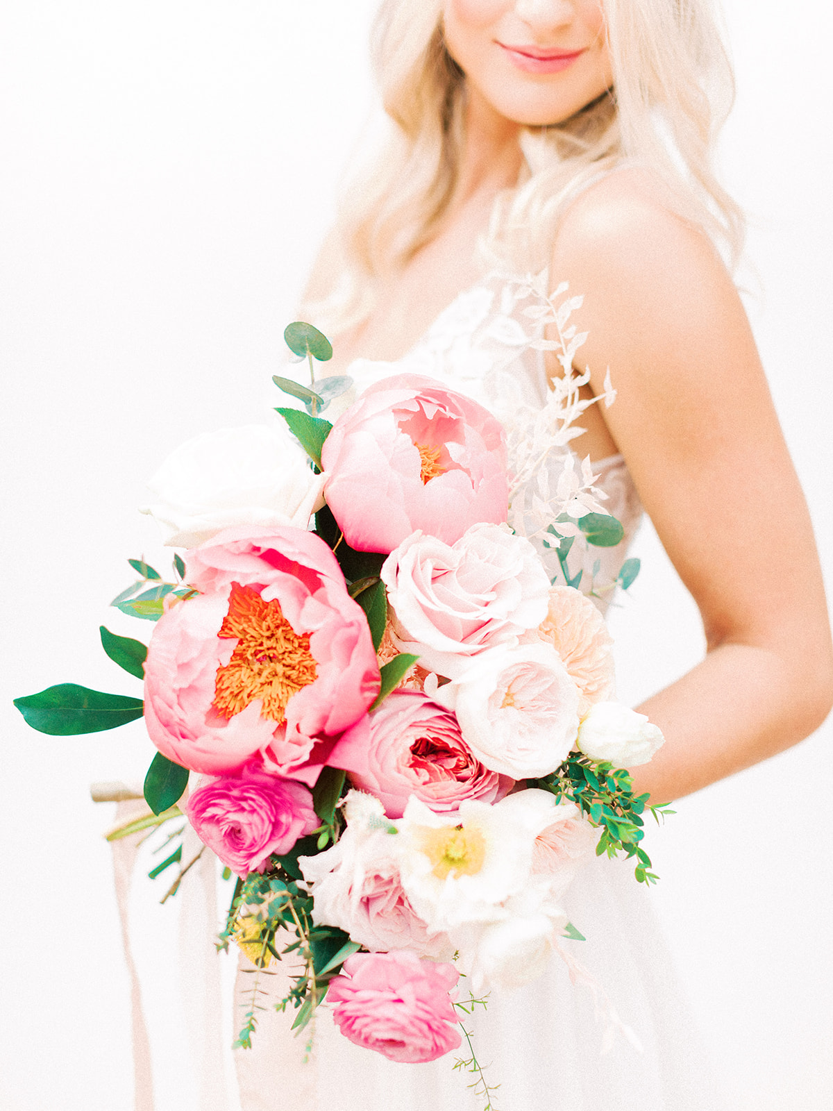Pink and greenery wedding bouquet: Beach Wedding Inspiration | Dominican Republic