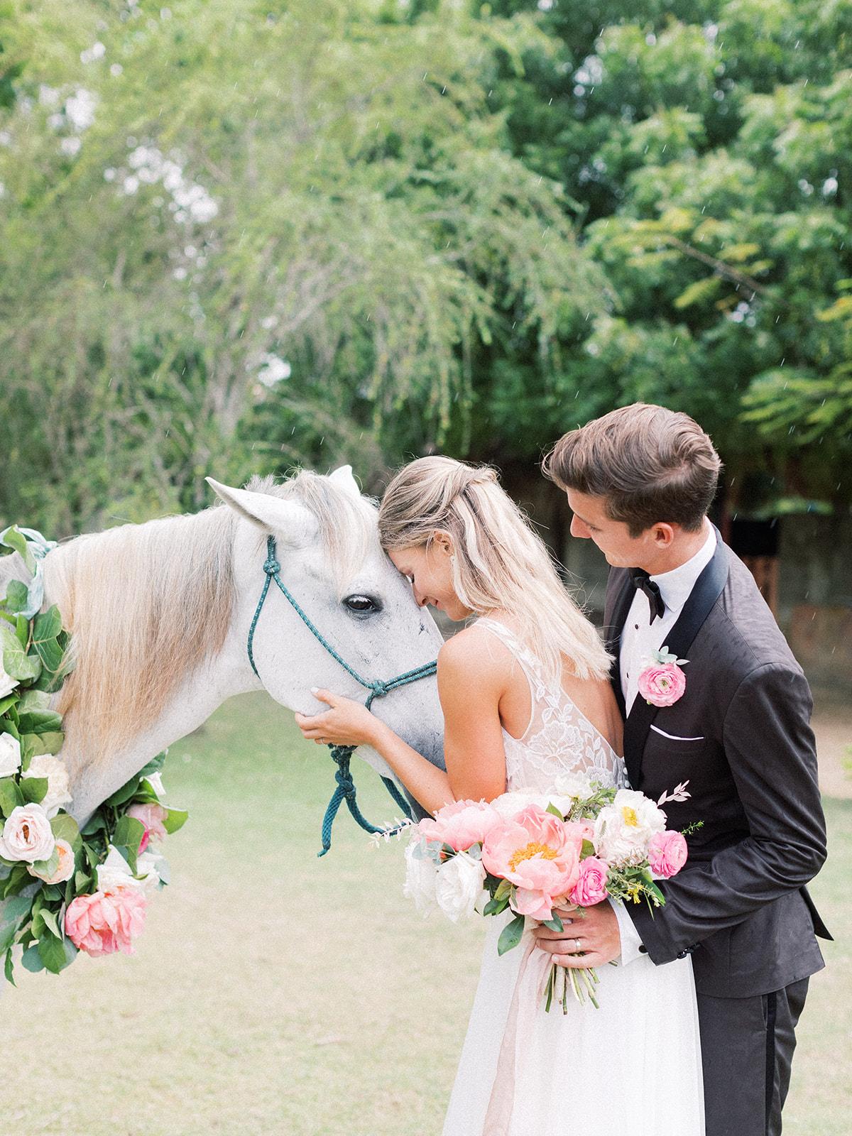 Horse at beach wedding: Beach Wedding Inspiration | Dominican Republic