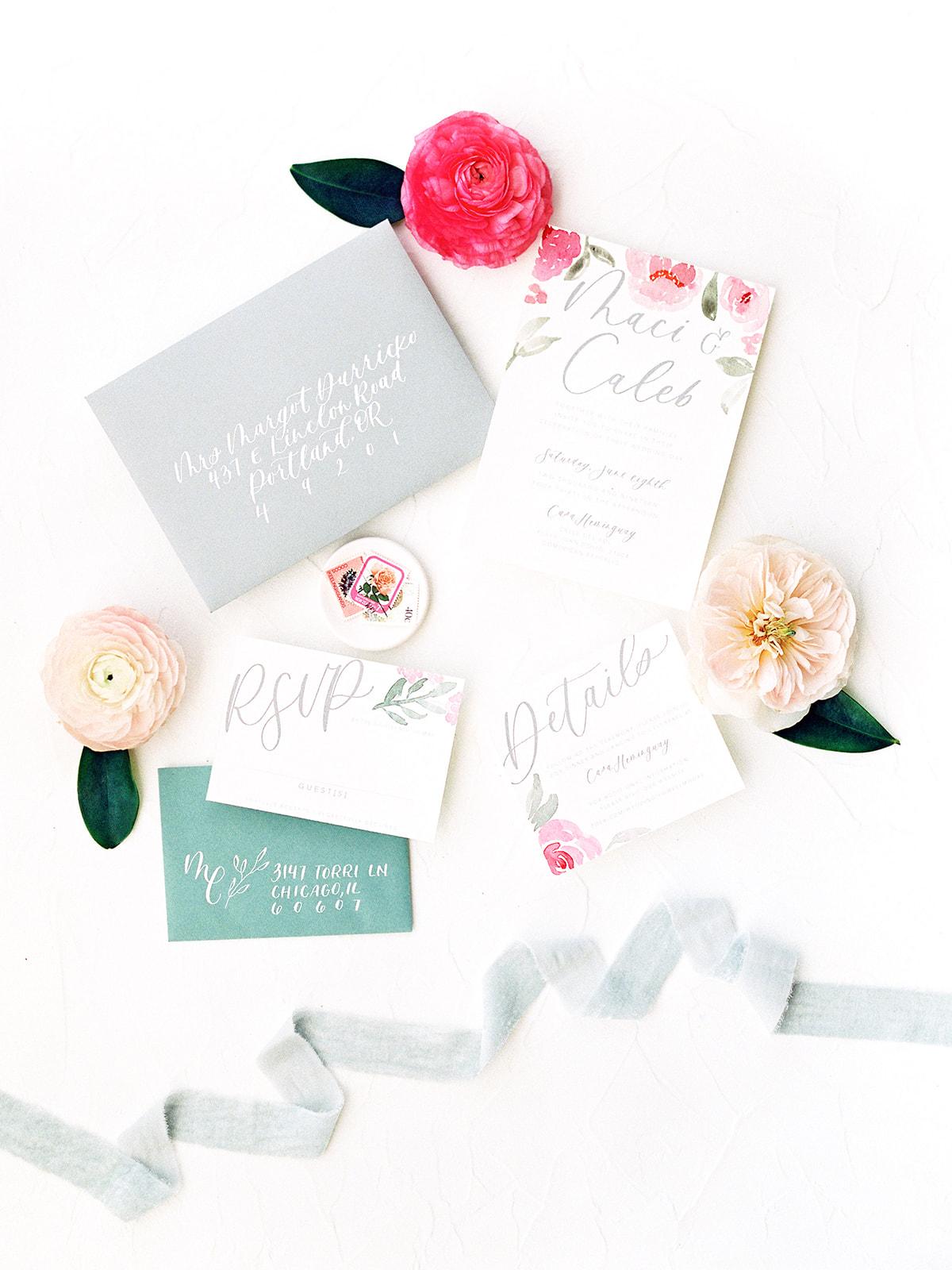 Modern wedding invitation suite: Beach Wedding Inspiration | Dominican Republic