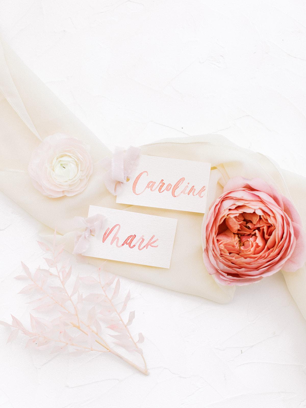 Calligraphy wedding escort cards: Beach Wedding Inspiration | Dominican Republic