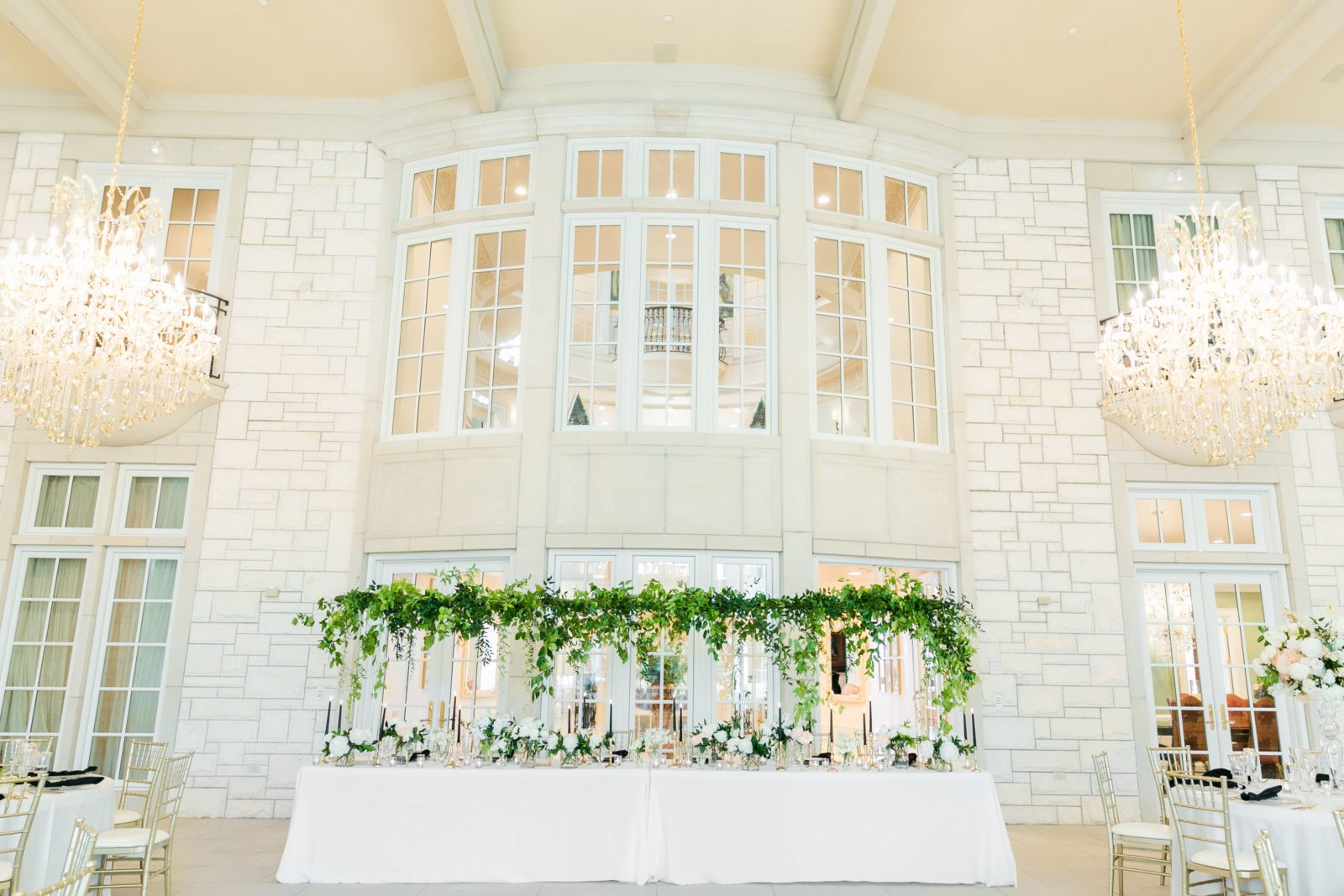 Tall canopy wedding centerpiece: Sophisticated and Chic wedding inspiration on Alexa Kay Events