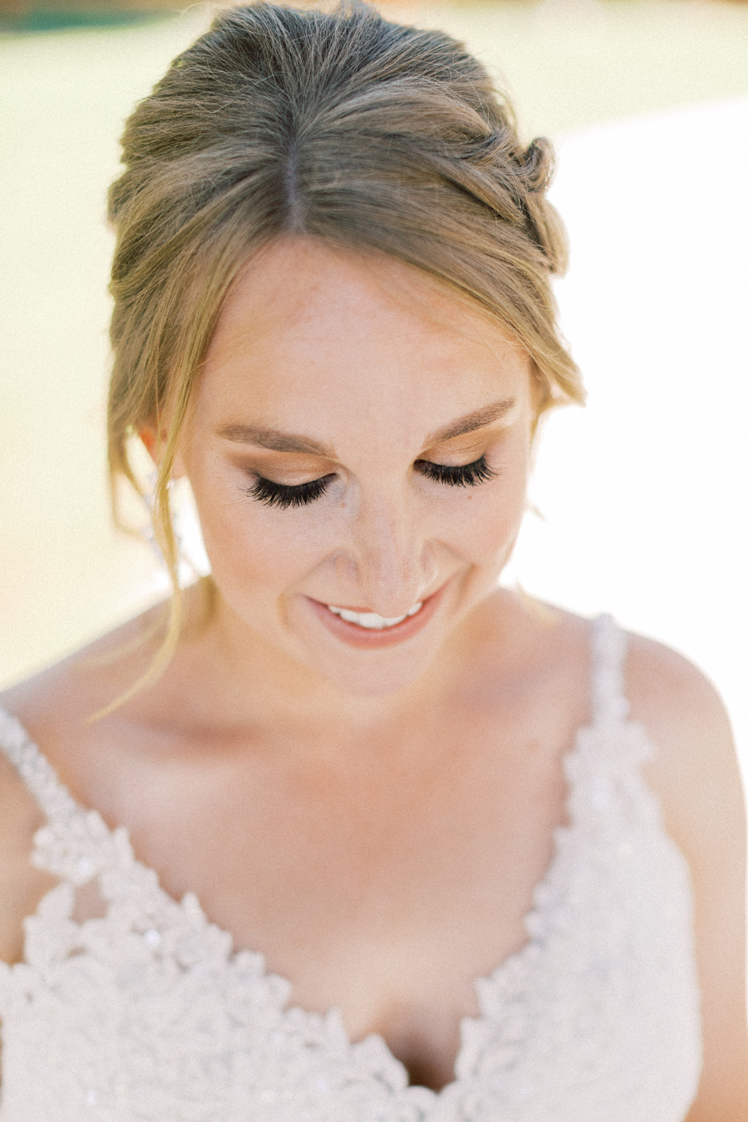 Wedding makeup: | Romantic blue Texas wedding at Spring Venue by Alexa Kay Events