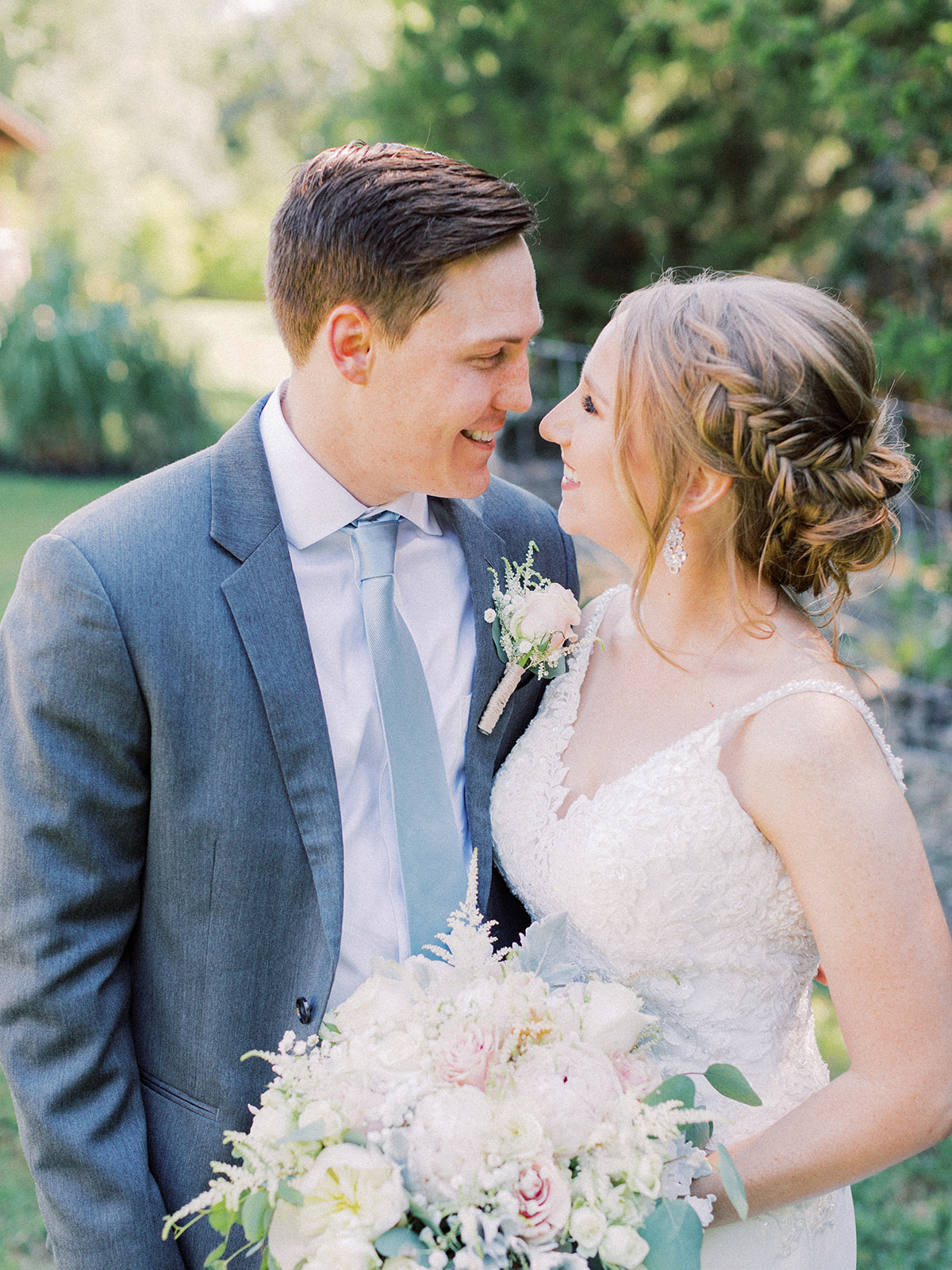 Wedding portrait: | Romantic blue Texas wedding at Spring Venue by Alexa Kay Events