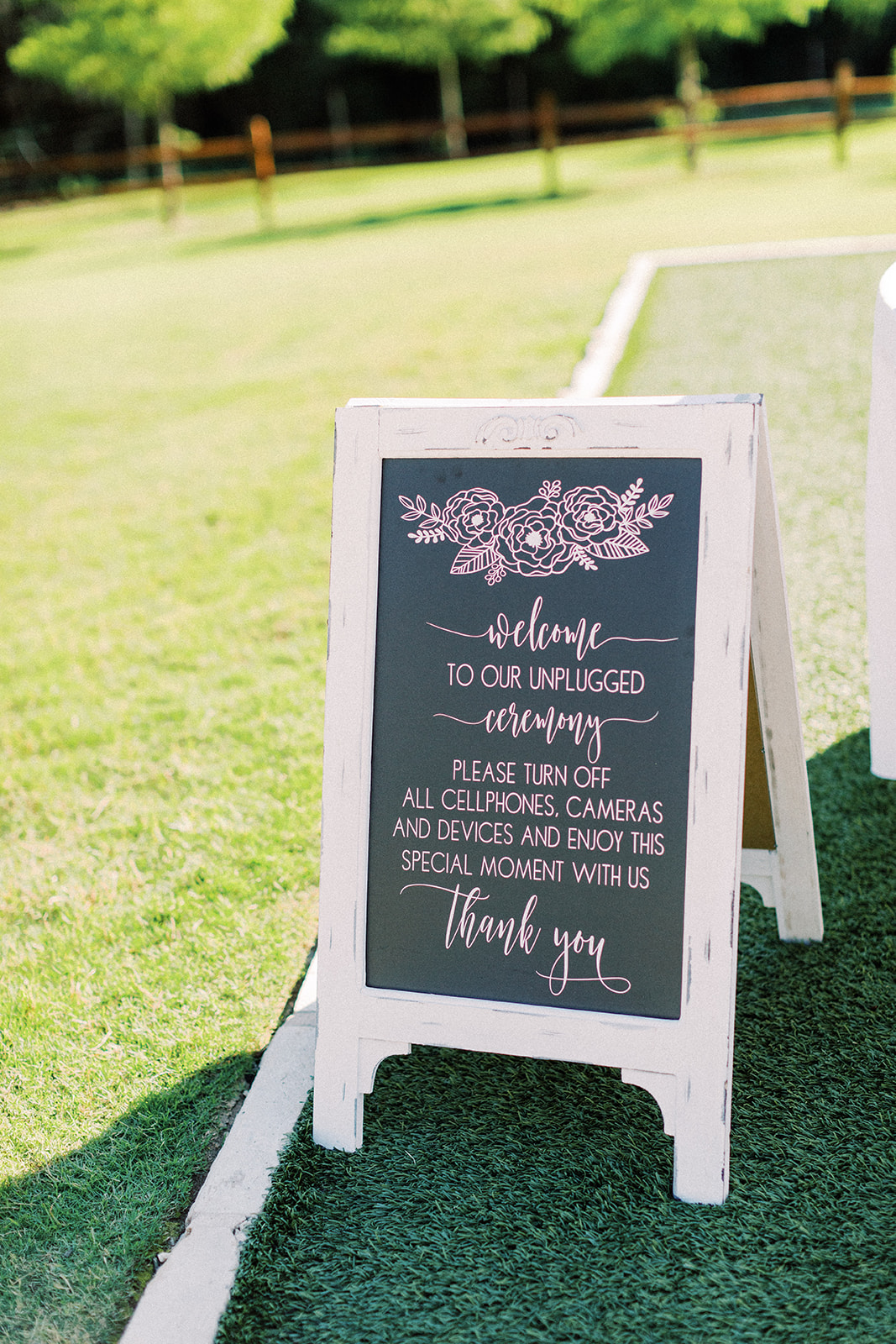 Chalkboard wedding sign: | Romantic blue Texas wedding at Spring Venue by Alexa Kay Events