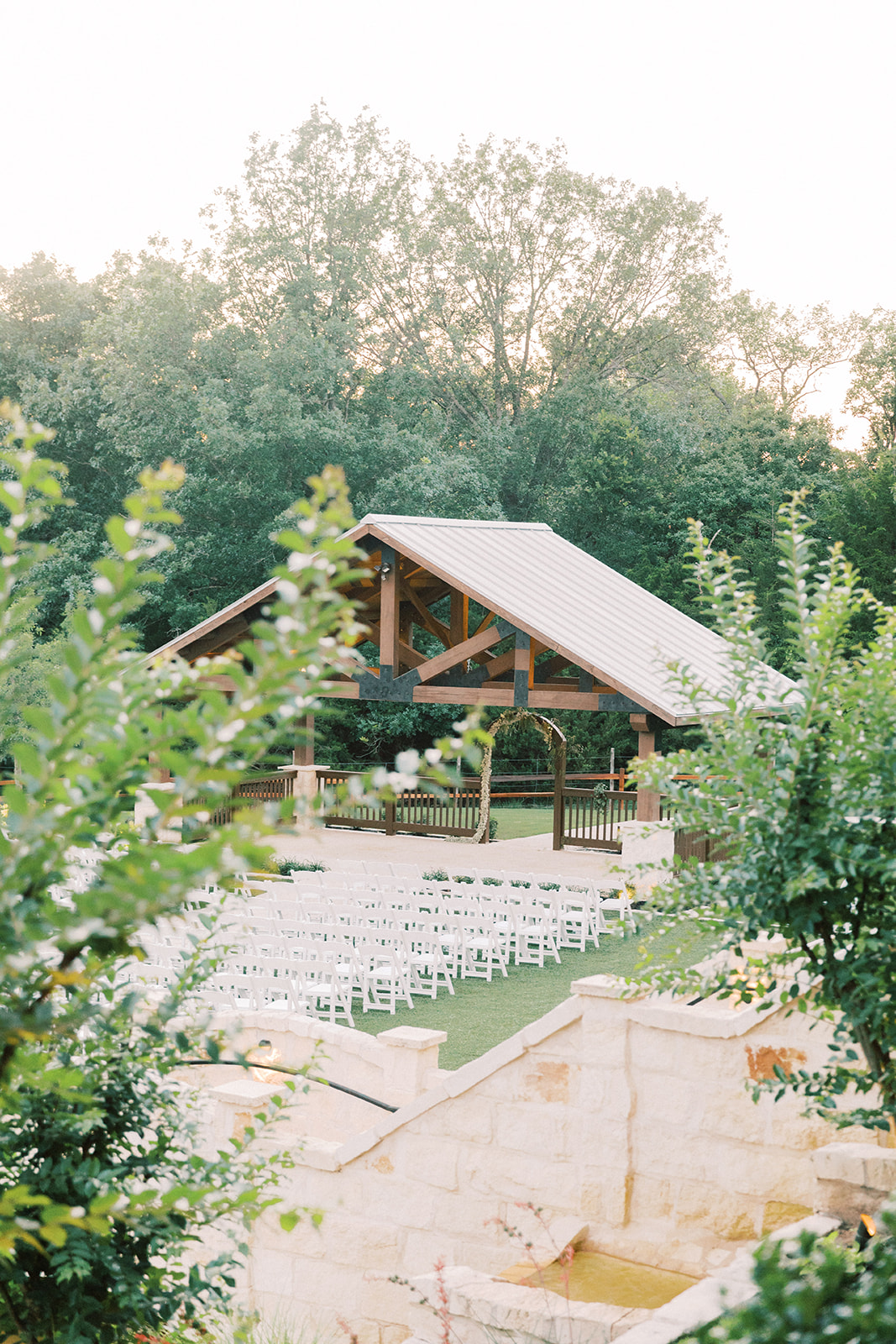 Springs Venue Wedding Ceremony: | Romantic blue Texas wedding at Spring Venue by Alexa Kay Events