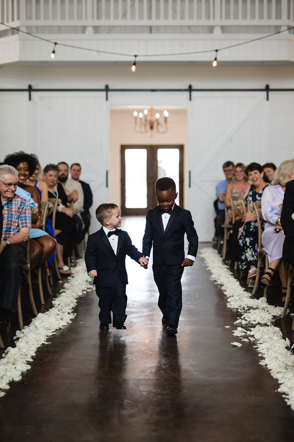 Ring bearers for modern rustic wedding ceremony
