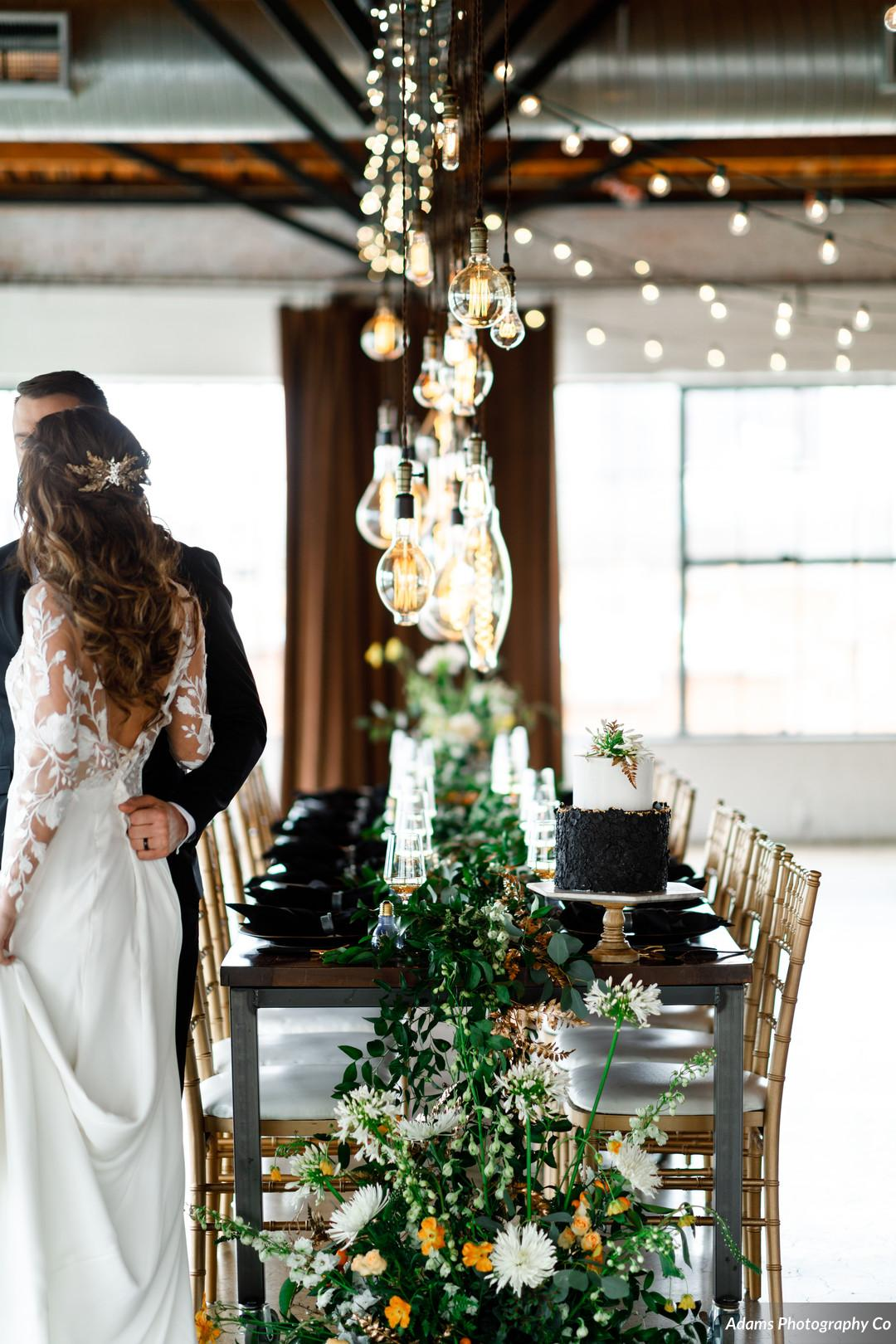 Black, White, and Gold Modern Wedding Inspiration featured on Alexa Kay Events