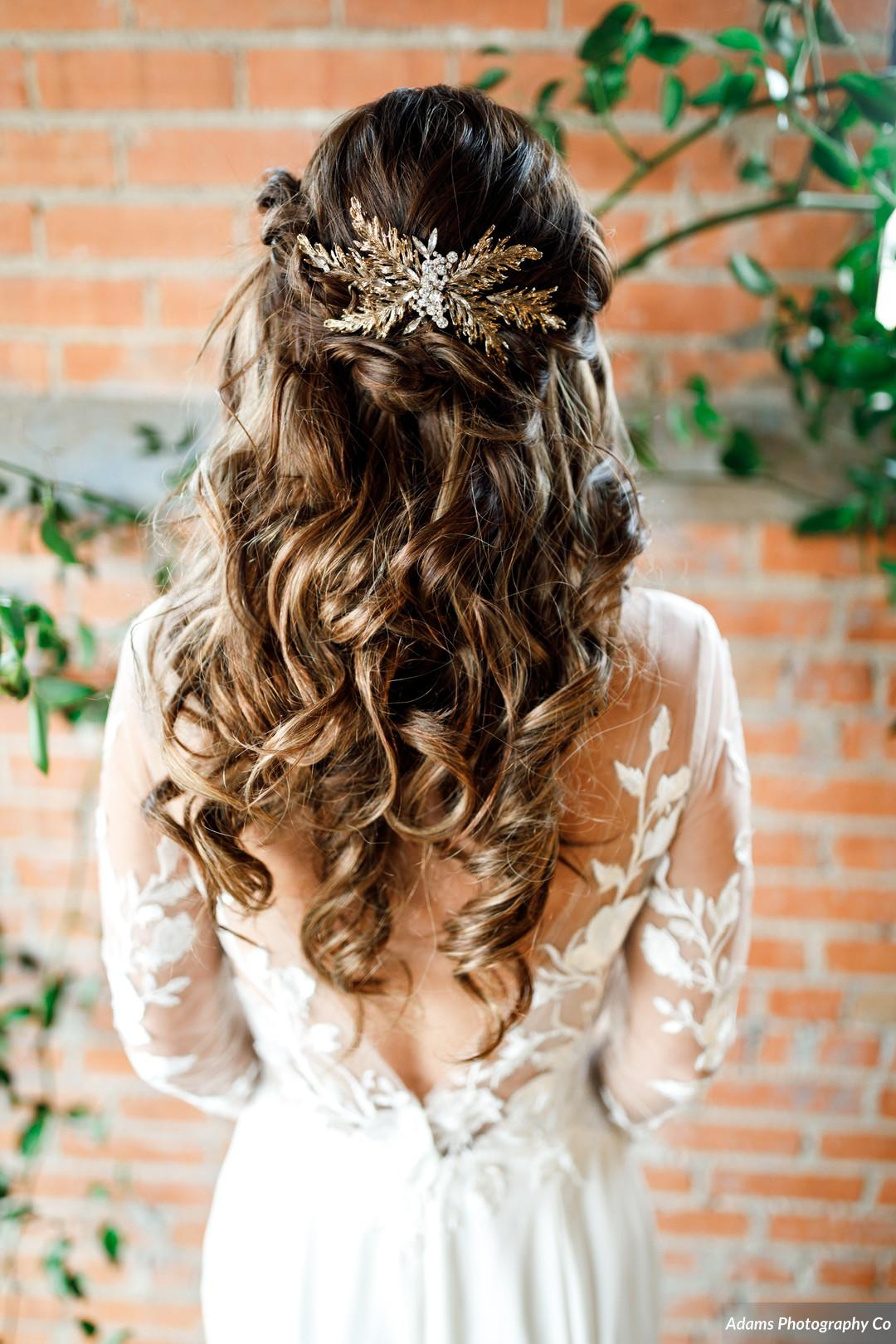 Wedding hair: Black, White, and Gold Modern Wedding Inspiration featured on Alexa Kay Events
