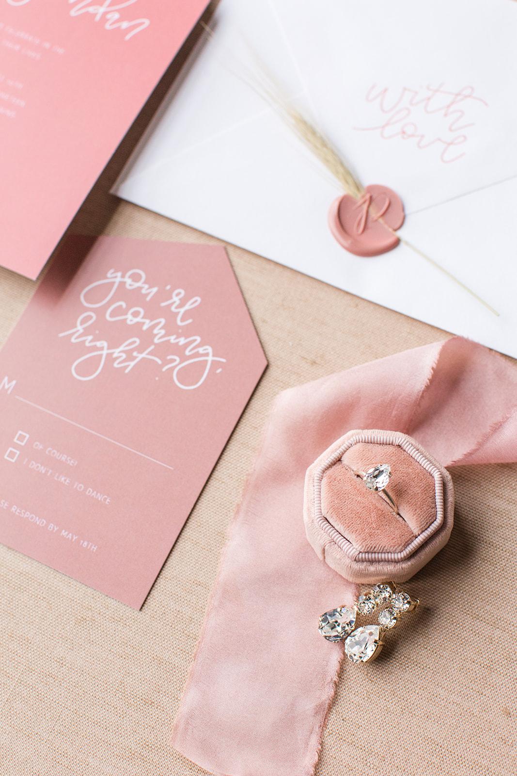 Pink wedding inspiration: Fall Garden Wedding featured on Alexa Kay Events
