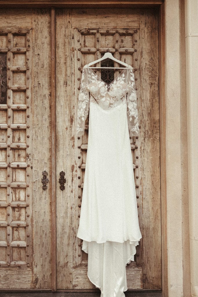 Wedding dress portrait: Intimate and Charming Wedding featured on Alexa Kay Events blog