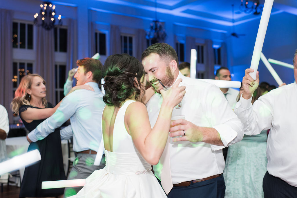 Wedding dancing: Dusty Blue and Blush Wedding at The Room on Main featured on Alexa Kay Events!