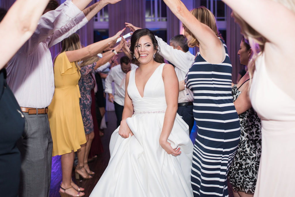 Bride Dancing: Dusty Blue and Blush Wedding at The Room on Main featured on Alexa Kay Events!