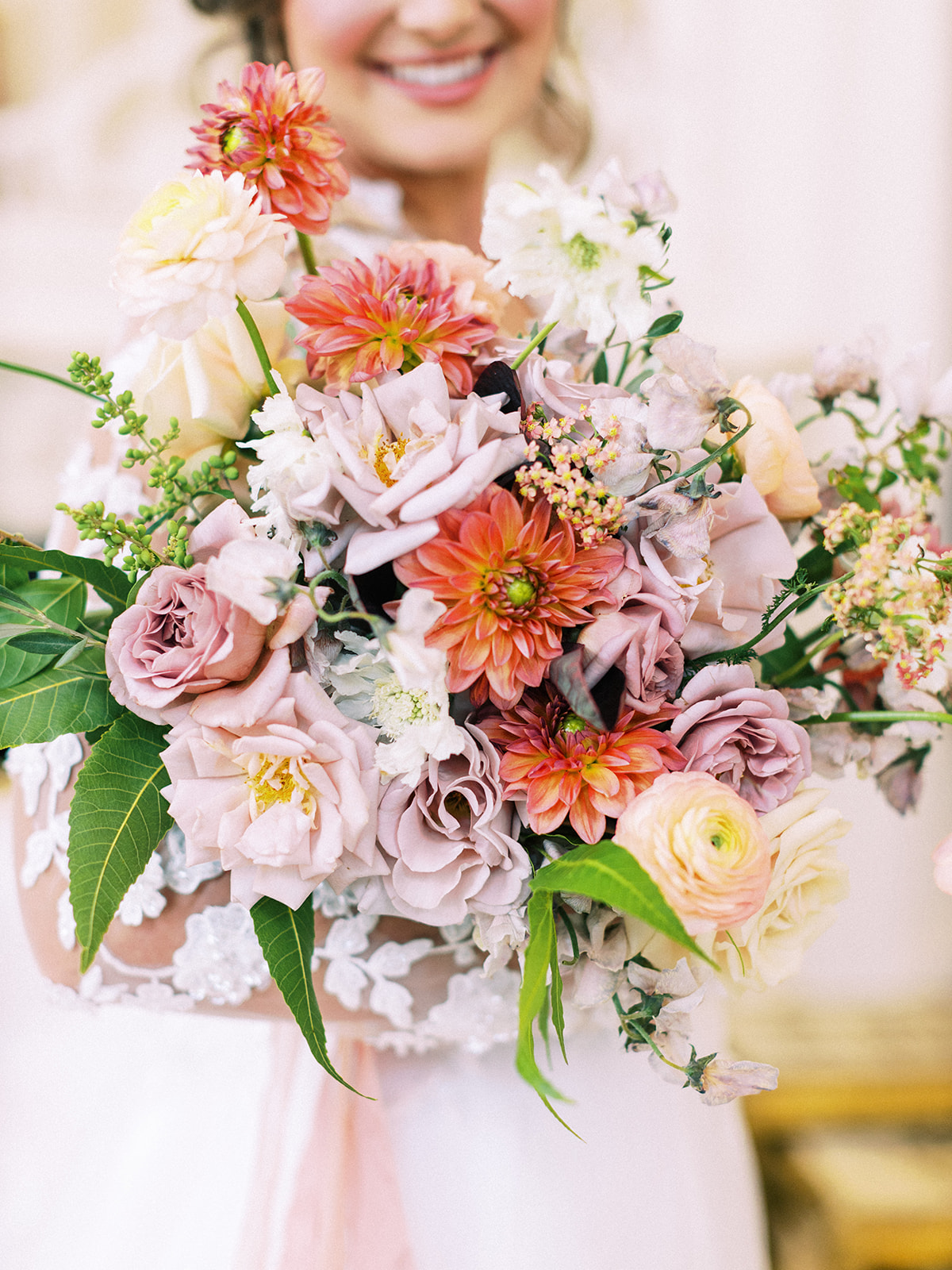 Bridal bouquet: Whimsical garden elegance styled shoot featured on Alexa Kay Events