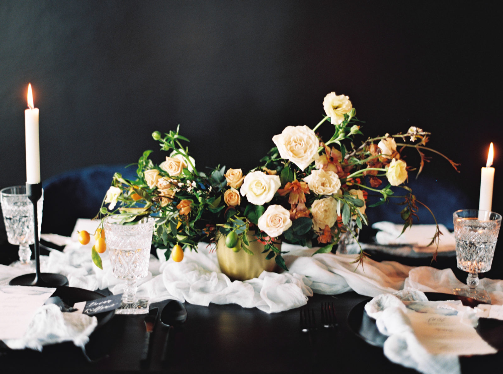 Wedding centerpiece inspiration for Monica wedding editorial.