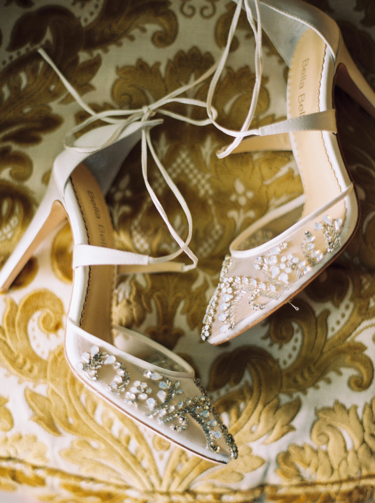 Embellished wedding shoes for wedding styled shoot featured on Alexa Kay Events