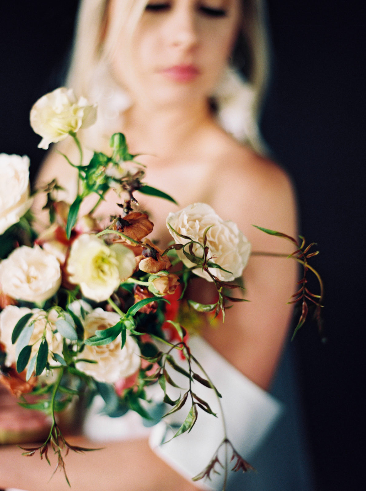 Wedding bouquet design for modern styled shoot featured on Alexa Kay Events