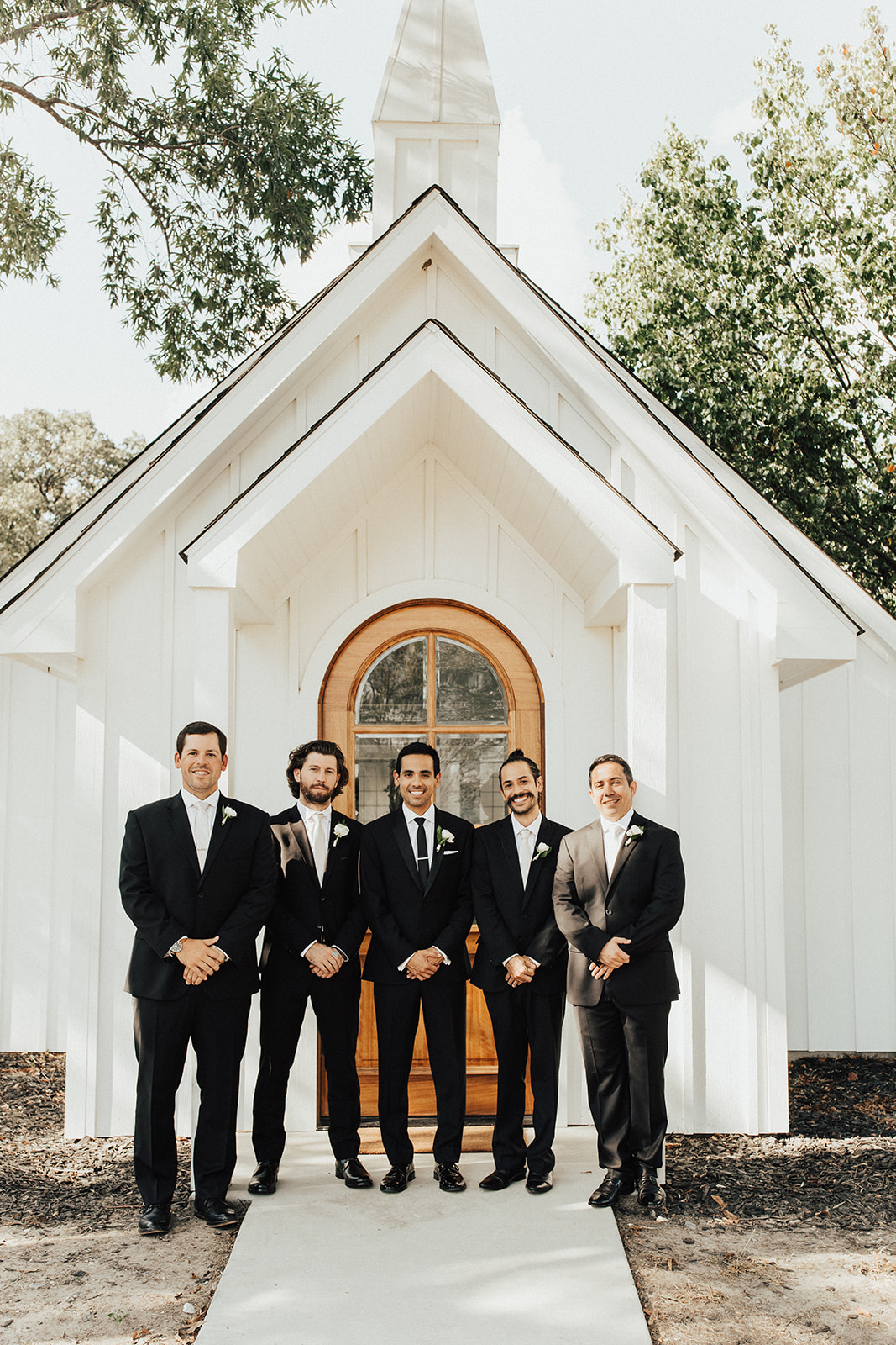 Black and White Groomsmen Tuxedos