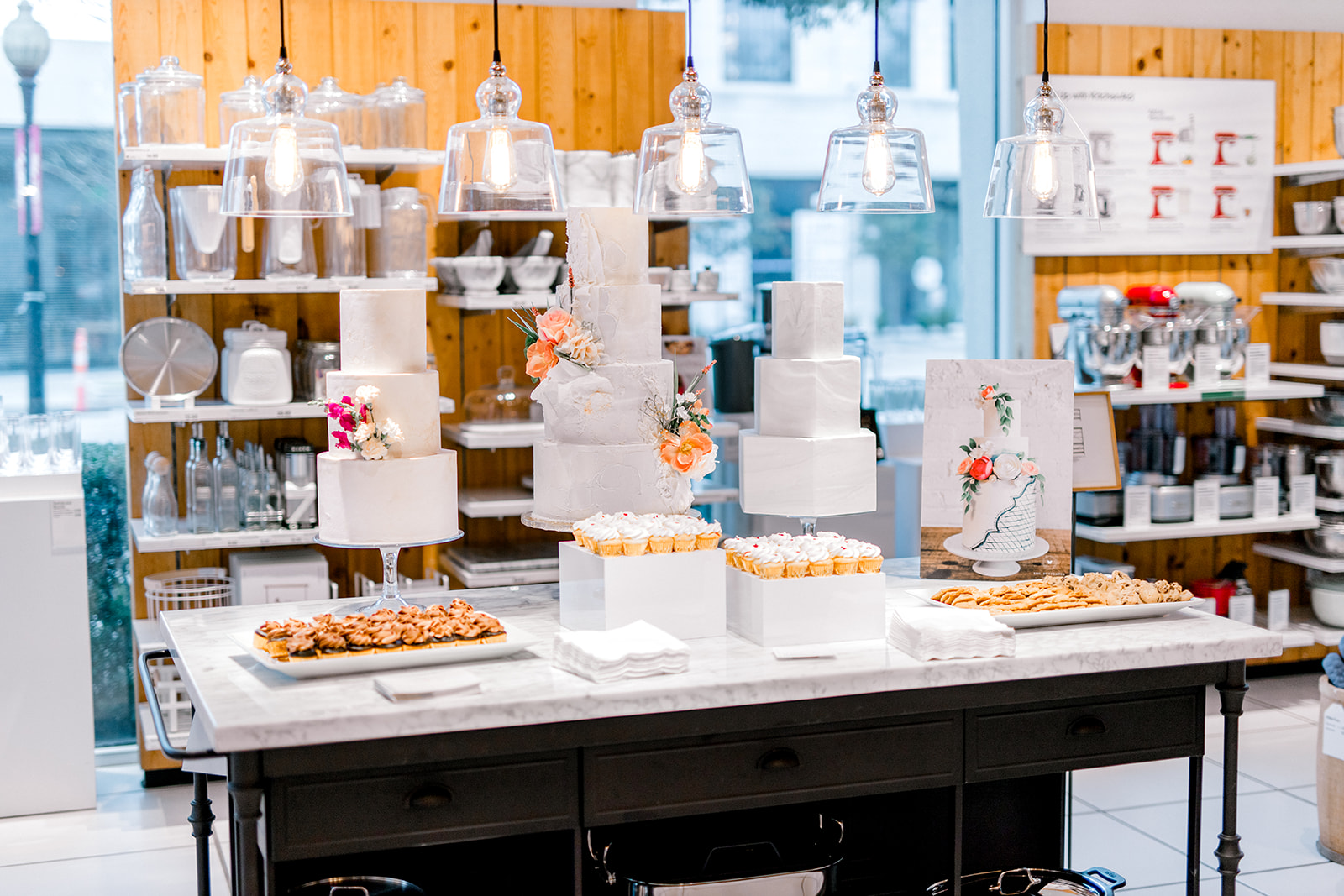 Wedding cake and dessert ideas: Crate and Barrel Collaboration with Alexa Kay Events