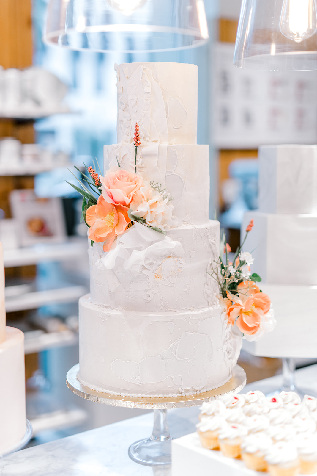 Timeless wedding cake: Crate and Barrel Collaboration with Alexa Kay Events