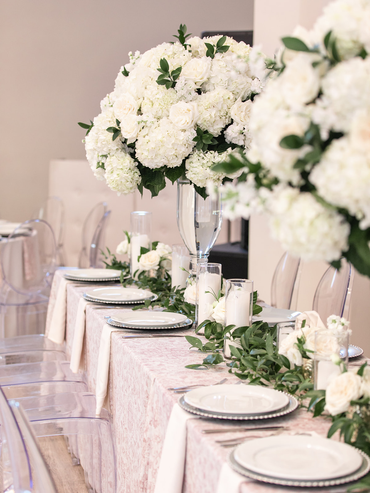 Pink and White Wedding Tablescape: Luxurious Knotting Hill Place Wedding