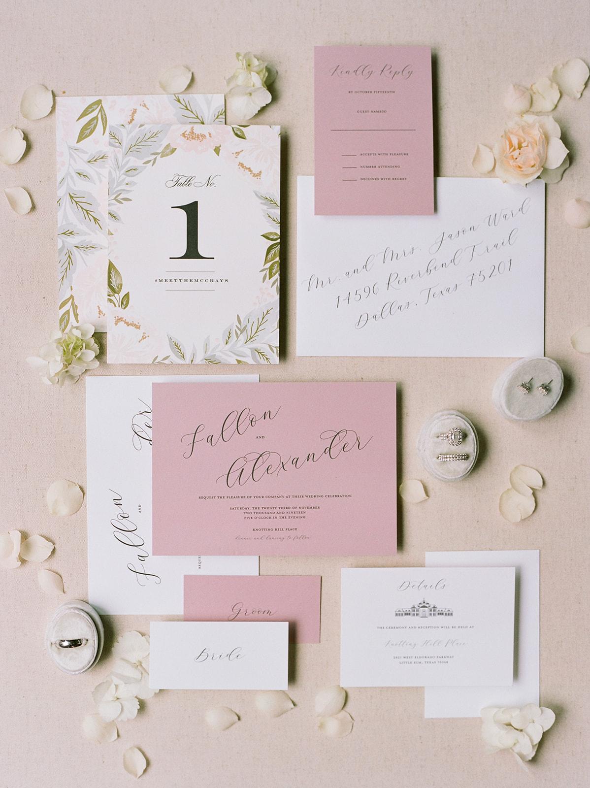 Dusty Pink Wedding Dress: Luxurious Knotting Hill Place Wedding