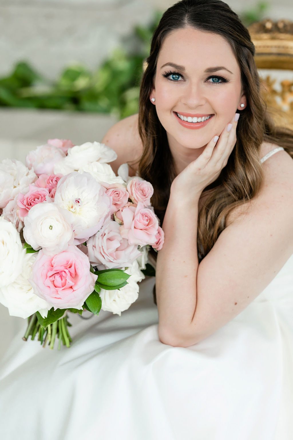 Blushington Blooms Wedding Bouquet: Dreamy Pink and Gray Wedding at The Olana