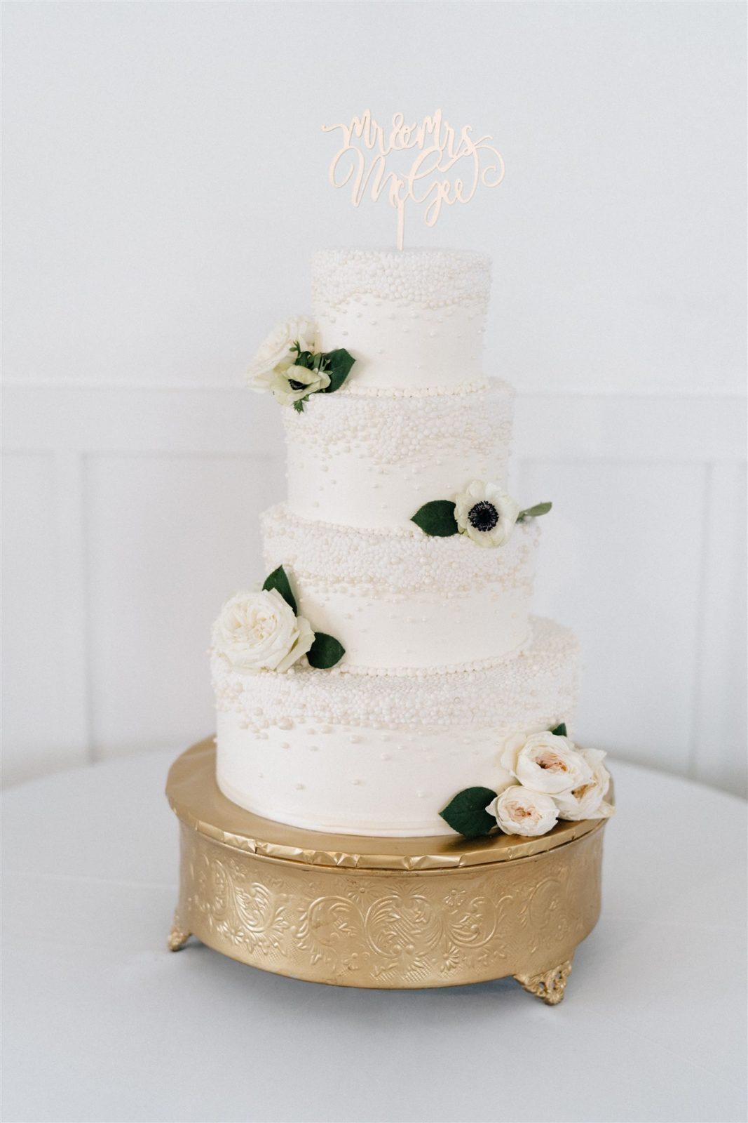 Wedding Cake Design: Simply Modern Firefly Gardens Wedding featured on Alexa Kay Events