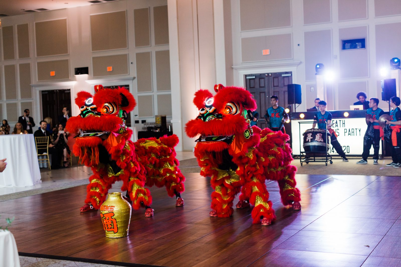 Dragon Dancers: Blush Pink Texas Wedding at The Bowden featured on Alexa Kay Events