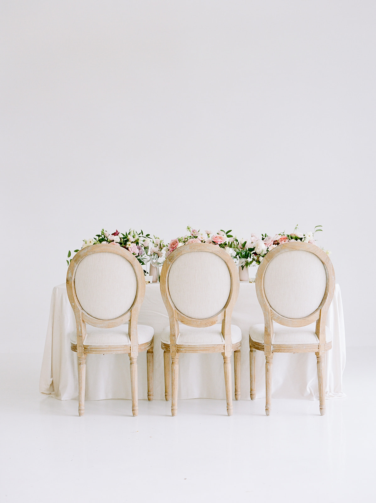 Wedding chair inspiration: Pink Floral Wedding Inspiration at The Lumen Room featured on Alexa Kay Events