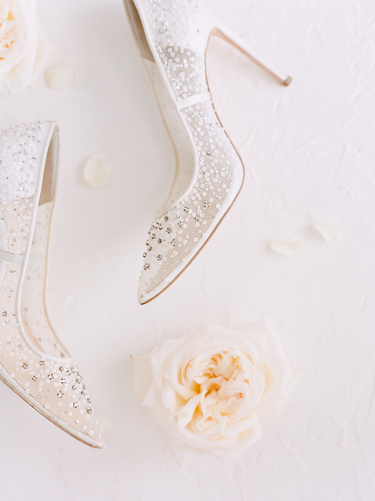 Embellished wedding shoes: Pink Floral Wedding Inspiration at The Lumen Room featured on Alexa Kay Events