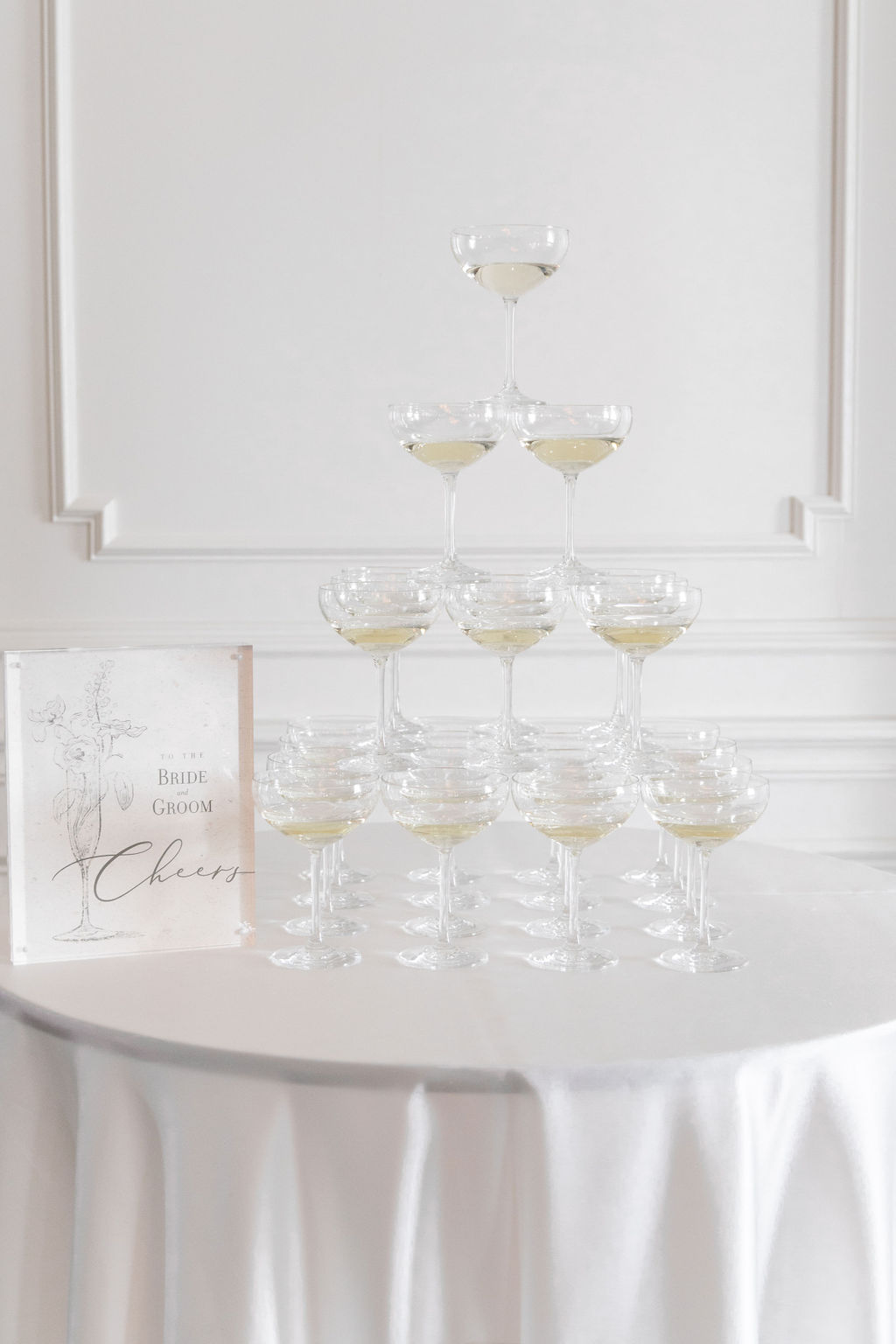 Wedding champagne bar: Elegant Dallas Wedding Inspiration at The Mason featured on Alexa Kay Events