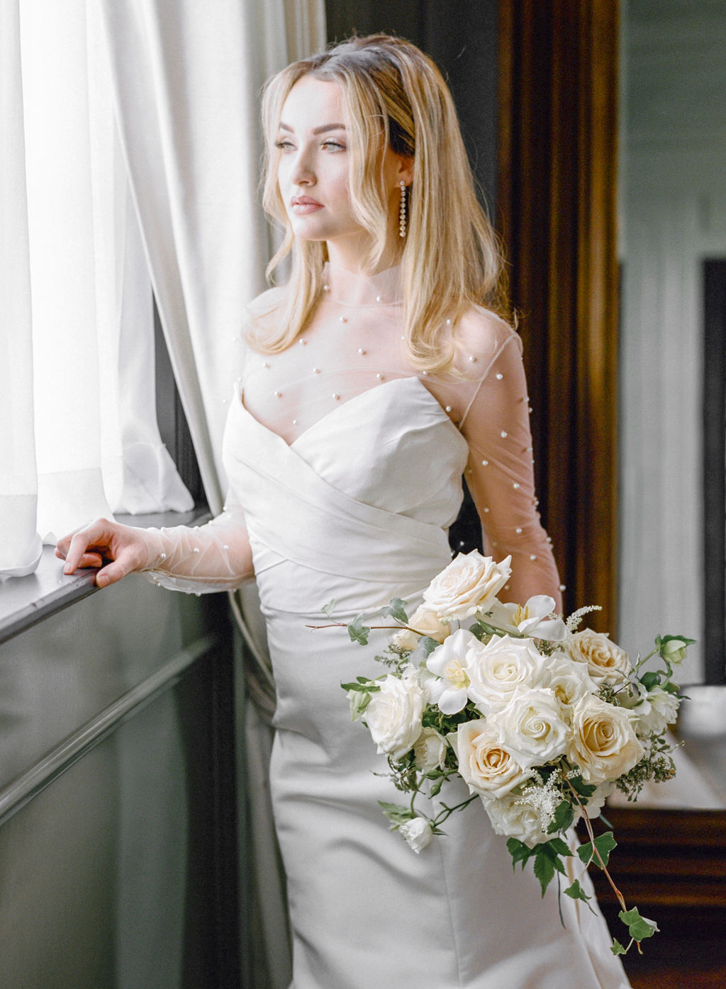 Bridal portrait: Elegant Dallas Wedding Inspiration at The Mason featured on Alexa Kay Events
