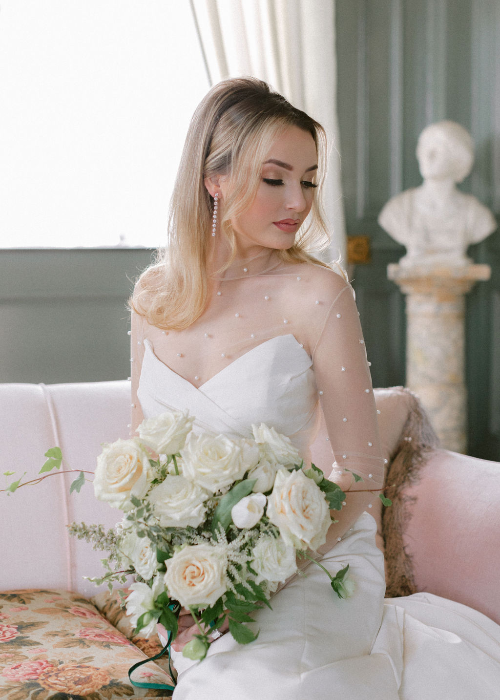 Wedding hair and makeup: Elegant Dallas Wedding Inspiration at The Mason featured on Alexa Kay Events