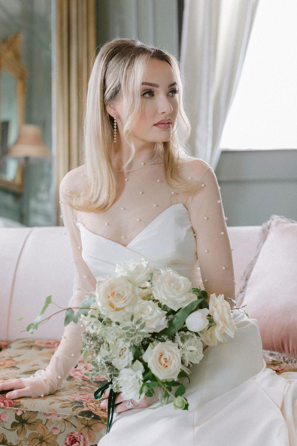 Soft bridal makeup: Elegant Dallas Wedding Inspiration at The Mason featured on Alexa Kay Events