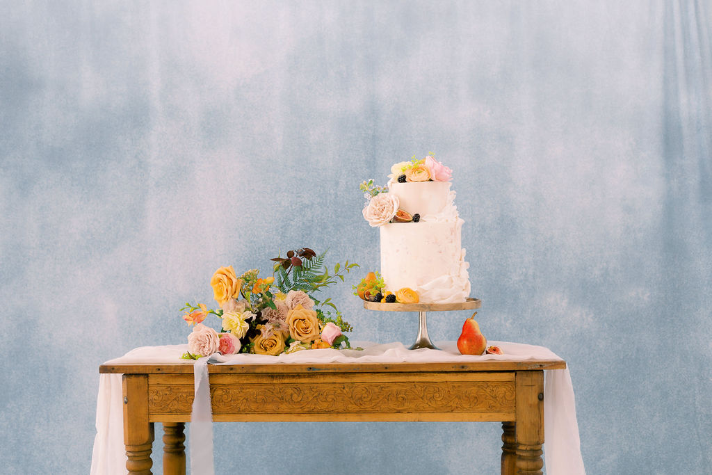 Wedding cake table design: Ethereal Wedding Inspiration at The White Sparrow