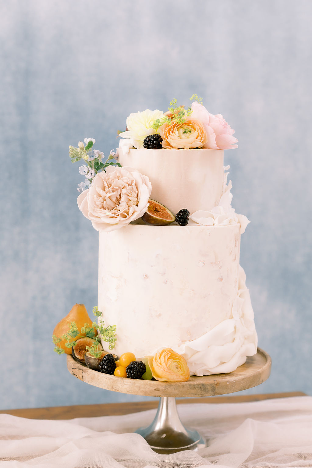 Butterfly Cakery wedding cake: Ethereal Wedding Inspiration at The White Sparrow