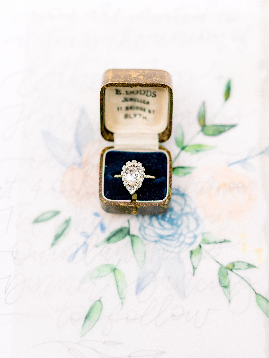 Engagement ring inspiration: Ethereal Wedding Inspiration at The White Sparrow