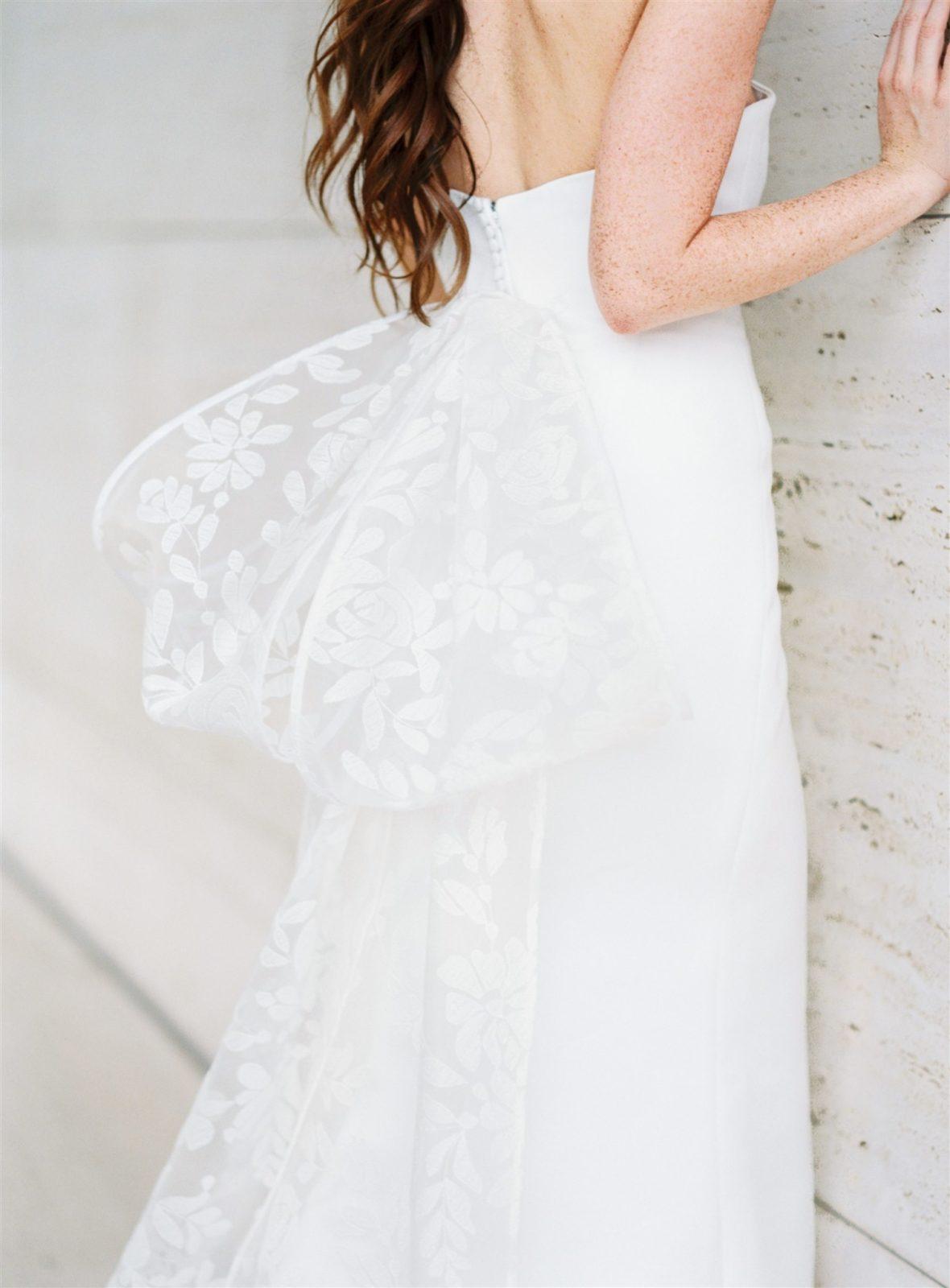 Sareh Nouri Lace Wedding Dress Bow