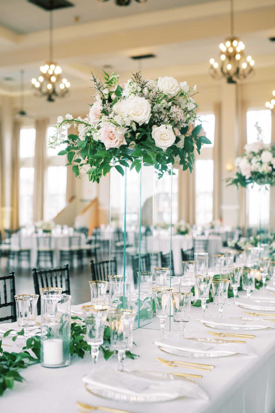 Elegant wedding decor at Room on Main