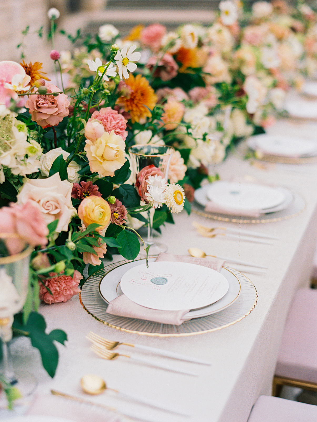 Color Filled Soiree at The Olana Texas | Alexa Kay Events