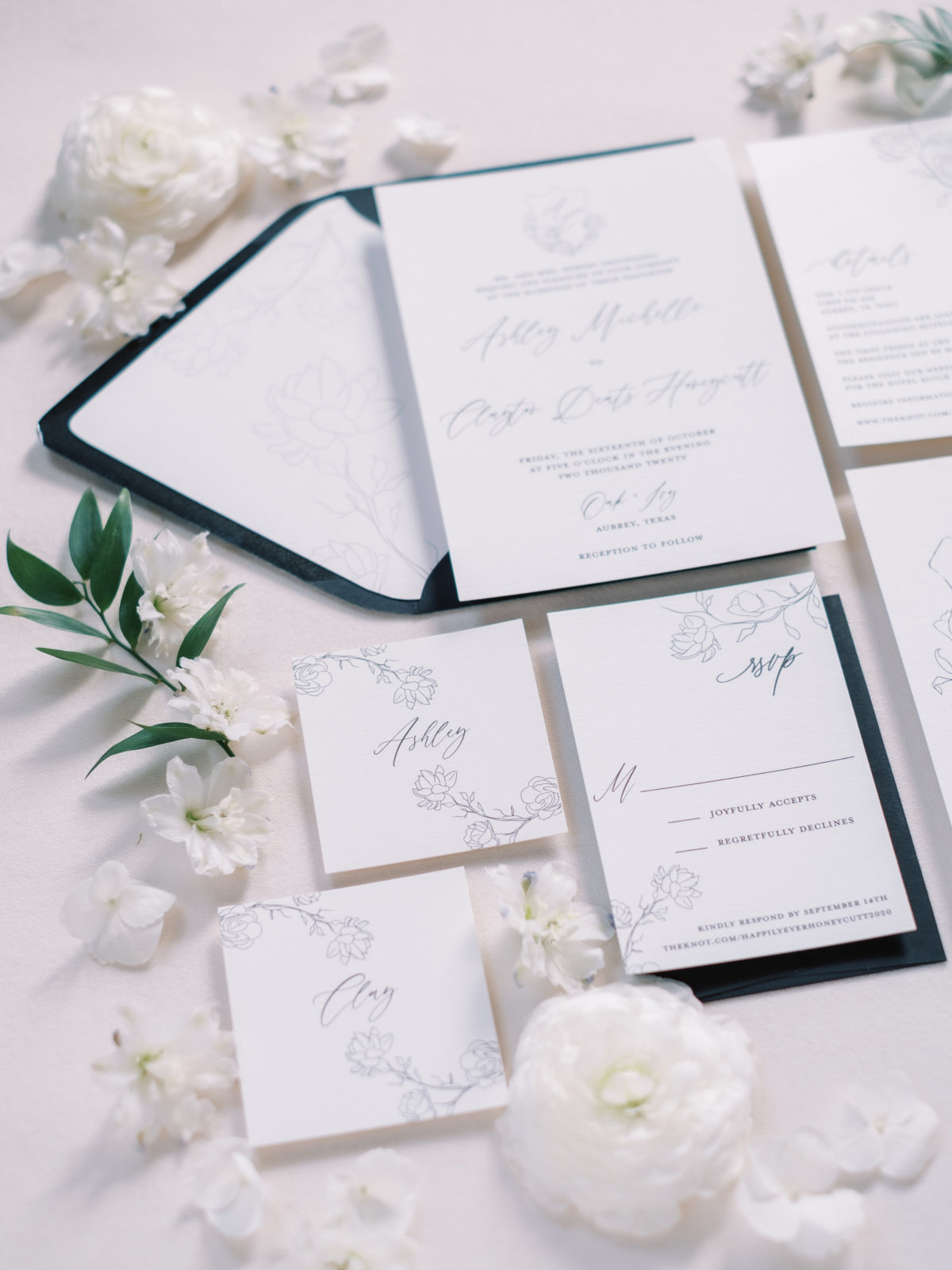 Lyons Paperie Black and White Wedding Stationery | Alexa Kay Events