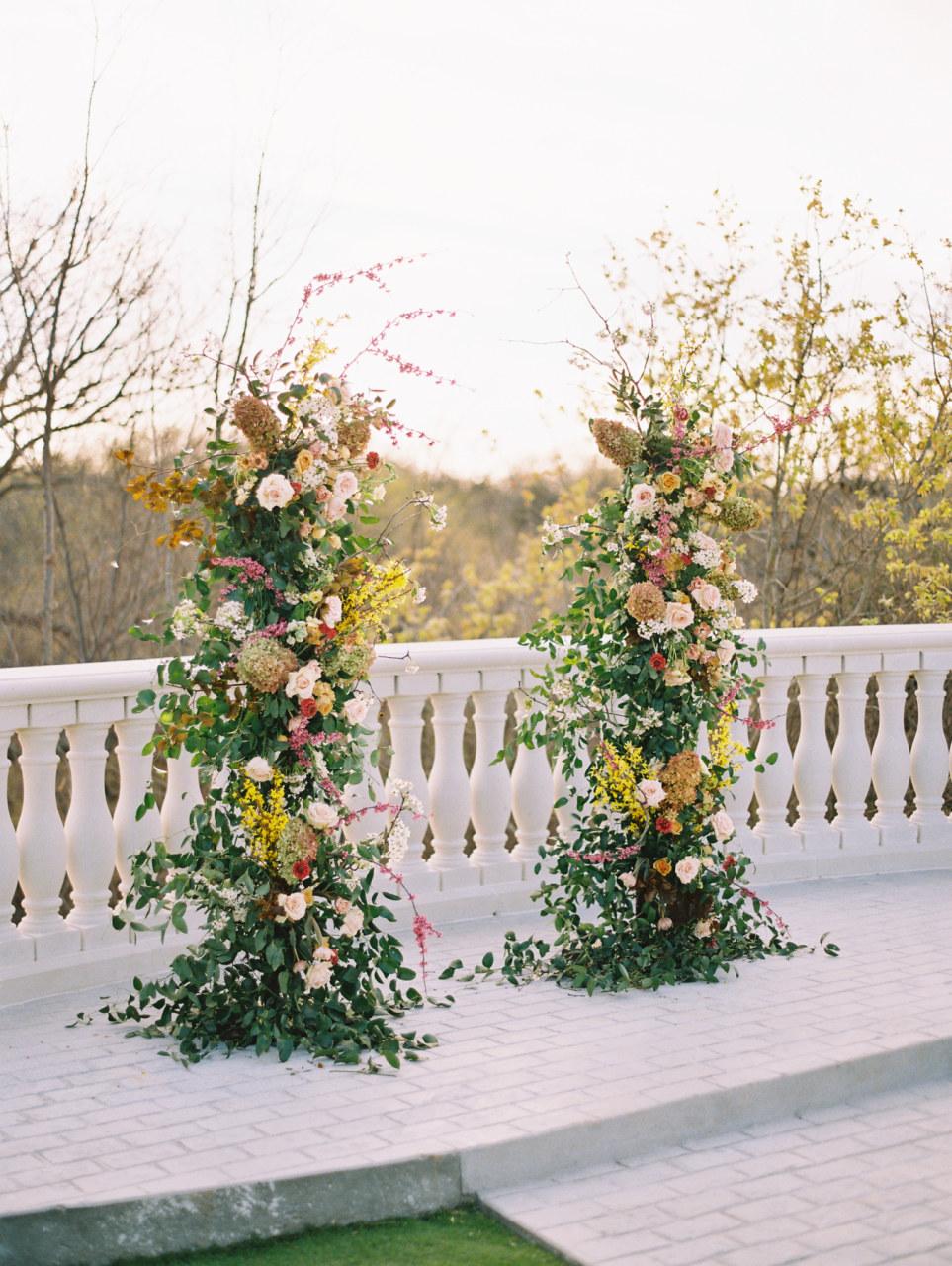 Alba Dahlia Floral wedding ceremony arch