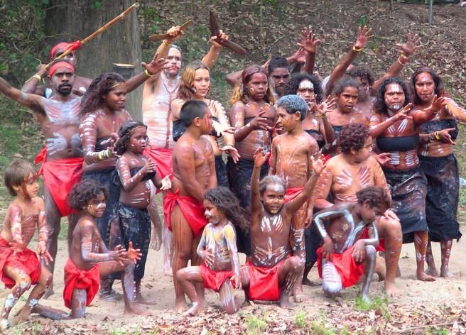 Aboriginal dancers celebrate at a local festival.