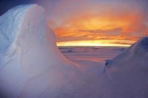 Abendhimmel in der Antarktis