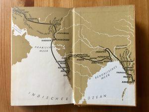 Ich radle um die Welt - Heinz Helfgen - Innenseite Reiseroute Teil 2